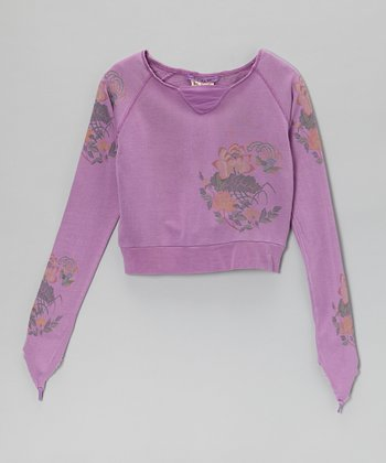 Plum Silk Top - Girls