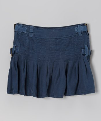 Ink Buckle Silk Skirt - Girls