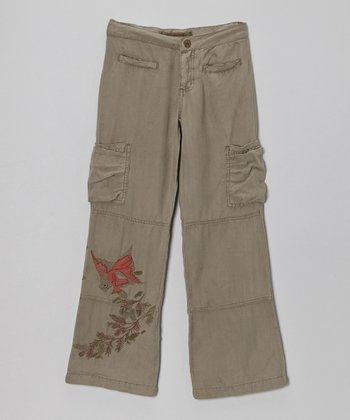 Ash Fern Silk Pants - Girls