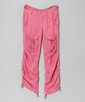 Fuchsia Silk Herr Pants - Girls