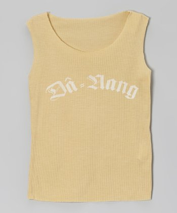 Maize 'Da-Nang' Ribbed Tank - Girls