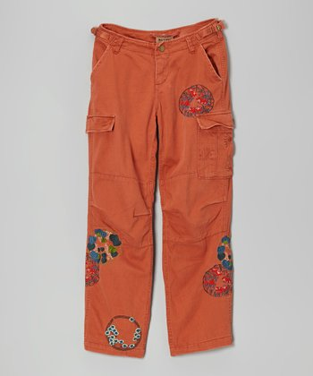 Auburn Eclectic Embroidery Cargo Pants - Girls