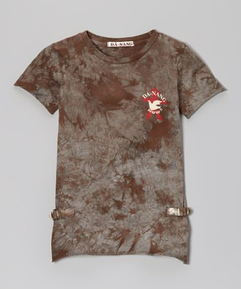 Burnt Tie-Dye Vintage Tee - Girls
