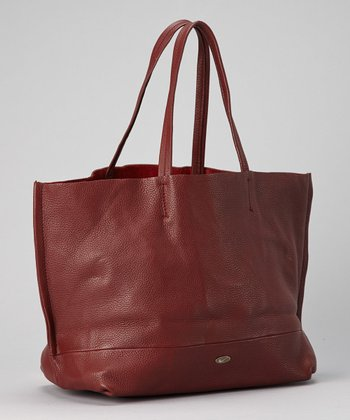 Wine Leather Tote
