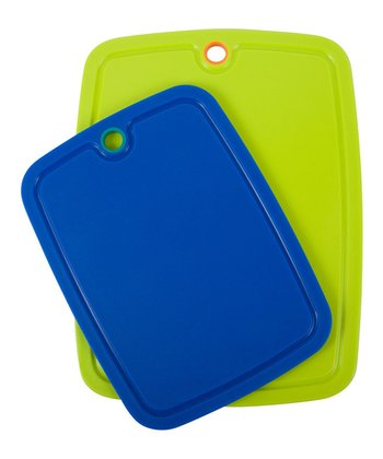 Azure & Lime Large Grip Strip Cutting Board Set
