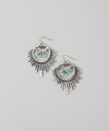 Turquoise & Silver Burst Earrings