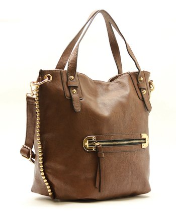Coffee Mila Shoulder Tote