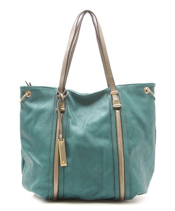 Teal Bailey Shoulder Tote