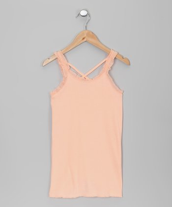 Tropical Peach Ruffle Tank
