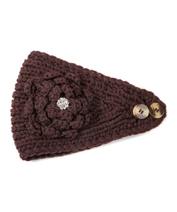 Café Brown Flower Head Wrap