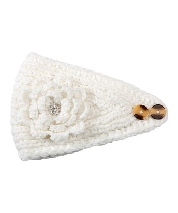 Winter White Flower Head Wrap