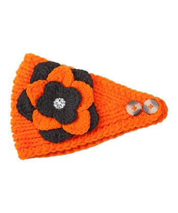 Orange & Black Flower Head Wrap