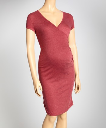 Ruby Heather Maternity Surplice Dress - Women