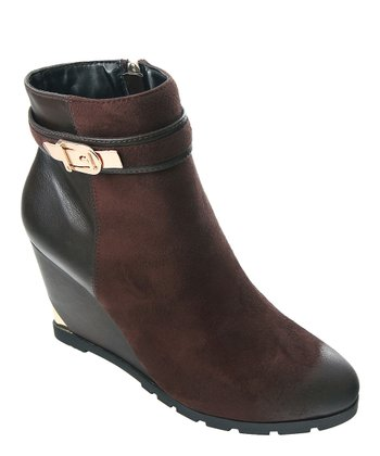Chocolate Getaway Wedge Ankle Boot