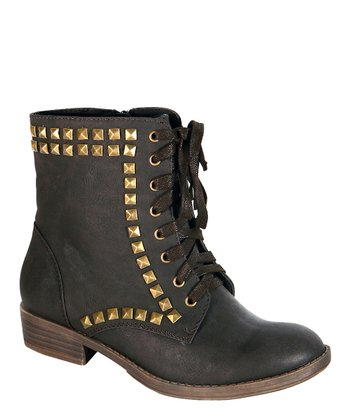Black Stud Ankle Boot