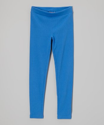 Princess Blue Leggings - Girls