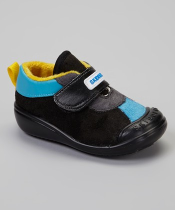 Black & Blue Casual Sport Gripper Shoe