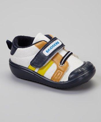 Skidders Navy & White Stripe Casual Sport Gripper Shoe