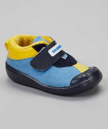 Navy & Yellow Casual Sport Gripper Shoe