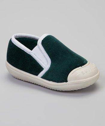 Skidders Green & White Slip-On Gripper Slipper