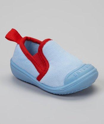 Skidders Blue & Red Slip-On Gripper Slipper