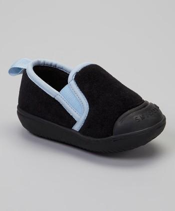 Skidders Black & Blue Slip-On Gripper Slipper