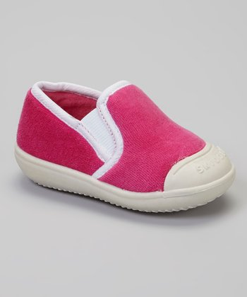 Pink & White Slip-On Gripper Slipper