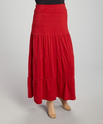Red Segment Skirt - Plus