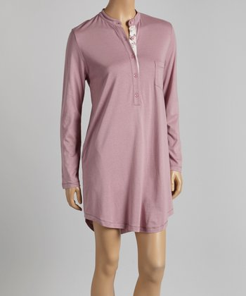Rosewood Long-Sleeve Nightgown - Women