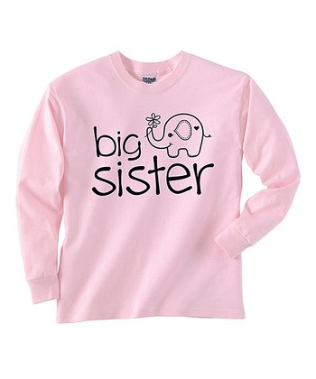 Pink 'Big Sister' Long-Sleeve Tee - Toddler & Girls
