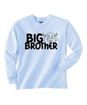 Blue 'Big Brother' Long-Sleeve Tee - Toddler & Boys