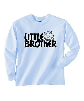 Blue 'Little Brother' Long-Sleeve Tee - Toddler & Boys