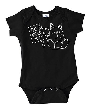 Black 'Do Not Feed' Bodysuit - Infant
