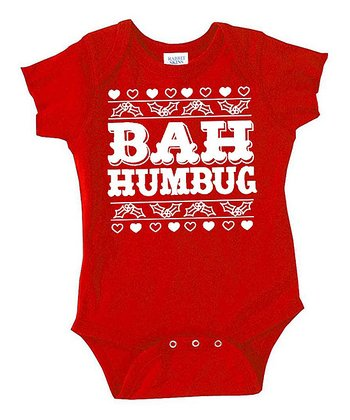 Red 'Bah Humbug' Bodysuit - Infant