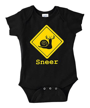 Black 'Sneer' Bodysuit - Infant