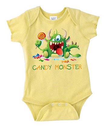 Yellow 'Candy Monster' Bodysuit - Infant