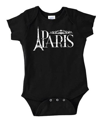 Black 'Paris' Bodysuit - Infant