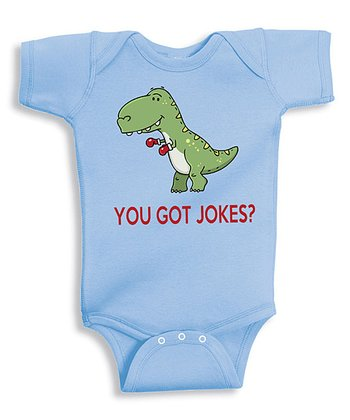 Blue 'You Got Jokes?' Bodysuit - Infant