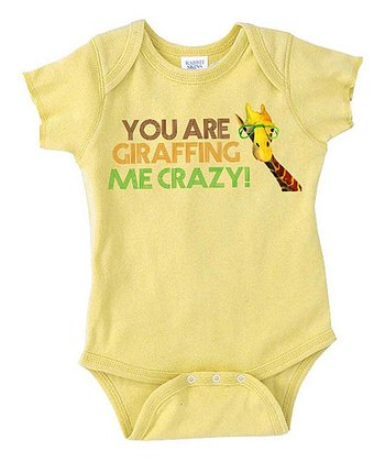 Lemon 'You Are Giraffing Me Crazy' Bodysuit - Infant