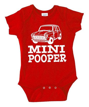 Red 'Mini Pooper' Bodysuit - Infant