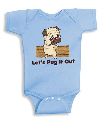 Blue 'Let's Pug It Out' Bodysuit - Infant
