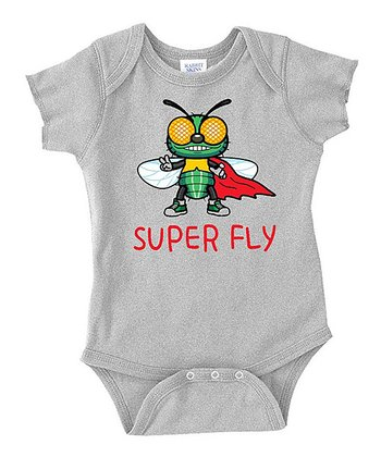 Gray 'Super Fly' Bodysuit - Infant