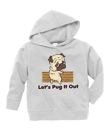 Gray 'Let's Pug It Out' Hoodie - Toddler & Boys