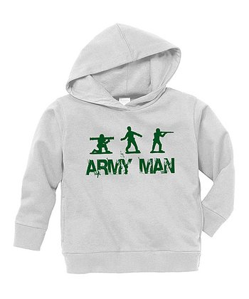Gray 'Army Man' Hoodie - Toddler & Boys