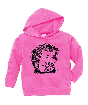Raspberry Baby Hedgehog Hoodie - Toddler & Girls