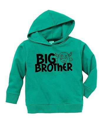 Kelly Green 'Big Brother' Hoodie - Toddler & Boys