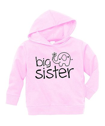 Pink 'Big Sister' Hoodie - Toddler & Girls