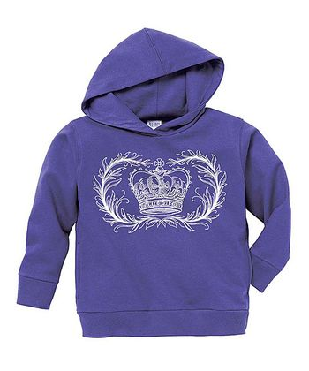 Purple Crown Hoodie - Toddler & Girls
