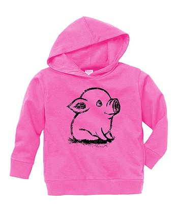 Raspberry Piglet Hoodie - Toddler & Girls