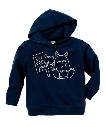 Navy 'Do Not Feed Monster' Hoodie - Toddler & Boys